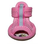 View Image 1 of Mesh Dog Sandals - Pink
