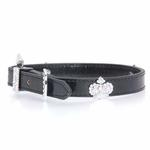 View Image 1 of Metallic Black Royal Dog Collar