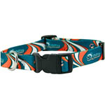 View Image 1 of Miami Dolphins Dog Collar - Dolphins