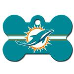 View Image 1 of Miami Dolphins Engravable Pet I.D. Tag - Bone