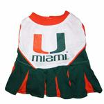 View Image 1 of Miami Hurricanes Cheerleader Dog Dress