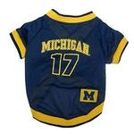 View Image 1 of Michigan Wolverines Dog Jersey - # 17 with Patch