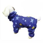View Image 1 of Midnight Stars Turtleneck Fleece Dog Pajamas by Klippo