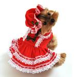 View Image 1 of Miss Santa Baby Dog Costume