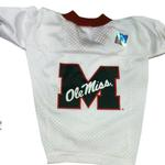 View Image 1 of Mississippi Rebels Dog Jersey - Big M on White