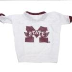 View Image 1 of Mississippi State Bulldogs Dog Jersey - White