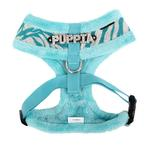 View Image 2 of Modern Zebra Dog Harness by Puppia - Blue