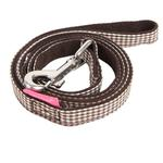 View Image 1 of Motley Dog Leash by Pinkaholic - Brown