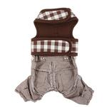 View Image 2 of Motley Dog Pants by Pinkaholic - Brown