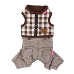 View Image 3 of Motley Pinka Dog Harness by Pinkaholic - Brown