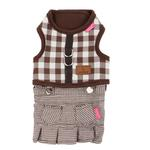 View Image 2 of Motley Pinka Dog Harness by Pinkaholic - Brown