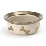 Napa Matte Metallic Dog Bowl - Champagne