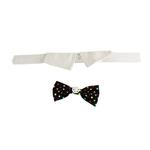 View Image 2 of Nathan Polka Dot Dog Shirt Collar and BowTie