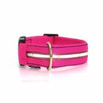 View Image 1 of Neon Dog Collar with White LEDs - Hot Pink