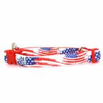 View Image 1 of Neoprene Dog Collar - American Flag