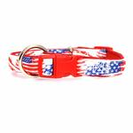 View Image 2 of Neoprene Dog Collar - American Flag