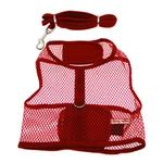 View Image 1 of Netted Dog Harness with Leash - Red