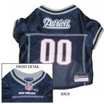 View Image 1 of New England Patriots Officially Licensed Dog Jersey - Gray Trim