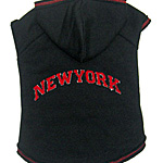 View Image 1 of New York Dog Hoodie - Black