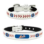 View Image 1 of New York Mets Leather Dog Collar