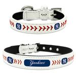 View Image 1 of New York Yankees Leather Dog Collar