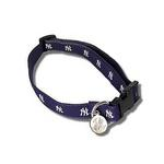 View Image 1 of New York Yankees Woven Ribbon Dog Collar