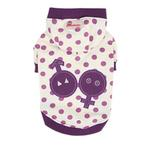 View Image 1 of Nila Hooded Dog Shirt by Pinkaholic - Purple