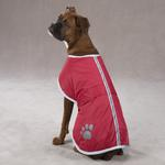 View Image 1 of Nor'easter Dog Blanket Coat - Red