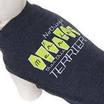 View Image 1 of Nothing's Merrier than this Terrier Dog Shirt - Charcoal