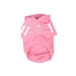 View Image 2 of Number 5 Dog Hoodie by Puppia - Pink