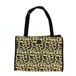 View Image 2 of NY Dog Leopard Print Zippered Pet Tote - Black Trim