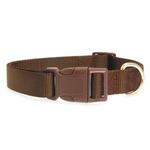 View Image 2 of Nylon Dog Collar by Zack & Zoey - Chocolate