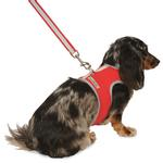 Nylon-Fleece Dog Vest Harness - Red
