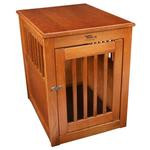 View Image 5 of Oak End Table Dog Crate - Burnished Oak