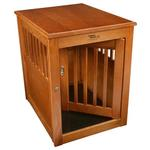 View Image 4 of Oak End Table Dog Crate - Burnished Oak