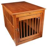 View Image 3 of Oak End Table Dog Crate - Burnished Oak