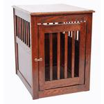 View Image 2 of Oak End Table Dog Crate - Mahogany