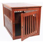 View Image 5 of Oak End Table Dog Crate - Mahogany
