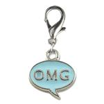 View Image 1 of OMG! Dog Collar Charm - Blue