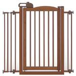 View Image 3 of One-Touch Wood Pet Gate - Autumn Matte