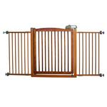 View Image 2 of One-Touch Wood Pet Gate - Autumn Matte