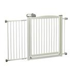 View Image 3 of One-Touch Wood Pet Gate - Origami White