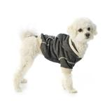 View Image 3 of On-the-Go Heathered Dog Hoodie - Charcoal Heather