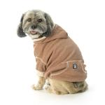 View Image 3 of On-the-Go Heathered Dog Hoodie - Spice Heather