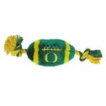 View Image 1 of Oregon Ducks Plush Football Dog Toy