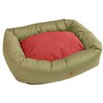 View Image 1 of Organic Bumper Dog Bed - Basil/Ember