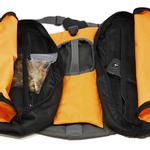 View Image 3 of Outward Hound Dog Backpack - Orange