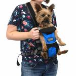 View Image 5 of Outward Hound Legs Out Front Dog Carrier - Blue