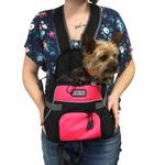 View Image 4 of Outward Hound Pet-A-Roo Front Carrier - Pink