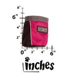 View Image 3 of Outward Hound Treat 'N Ball Bag - Pink and Black
